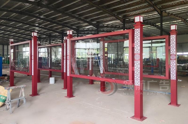 漯河38套宣传栏车间生产、发货